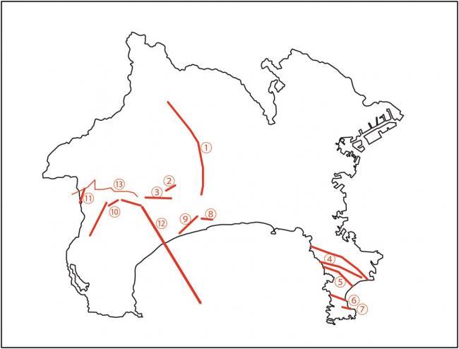 神奈川県の活断層