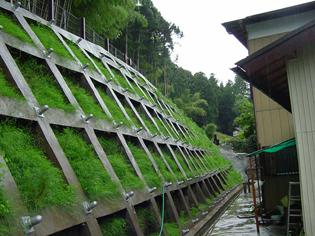写真:日向区域(愛川町)の法枠工