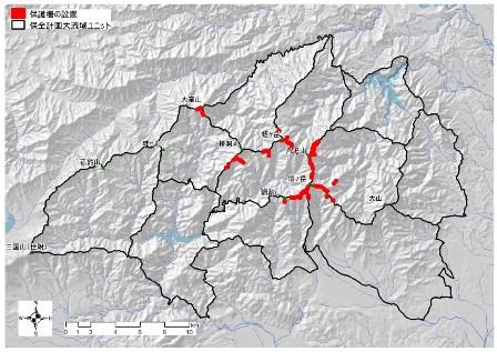 図:植生保護柵を設置した位置図