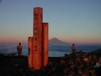塔ノ岳の夜明け
