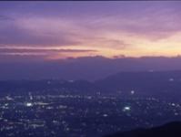 山から見下ろす街