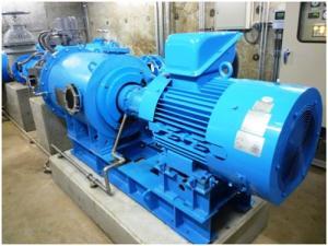 葛原小水力発電設備の写真