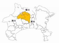 厚木土木事務所所管地域地図