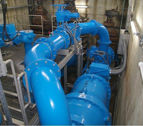 稲荷配水池小水力発電設備の写真