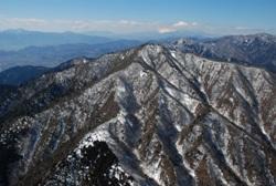 写真:大山上空